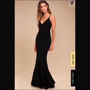 Lulu's Infinite Glory Black Formal Maxi Dress